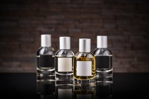 Perfume in a glass bottle