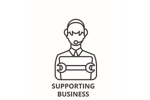 Supporting business line icon
