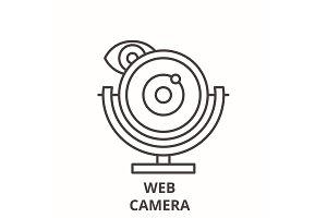 Web camera line icon concept. Web