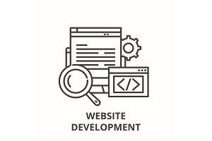 Website development line icon