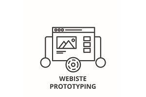 Website prototyping line icon