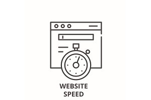 Website speed line icon concept