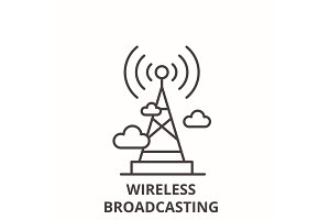 Wireless broadcasting  line ico