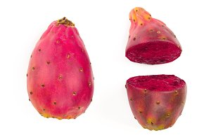 red prickly pear or opuntia isolated