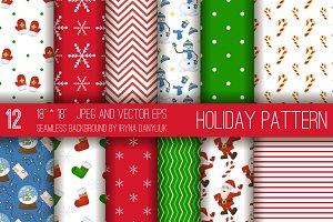 Christmas holidays pattern vector