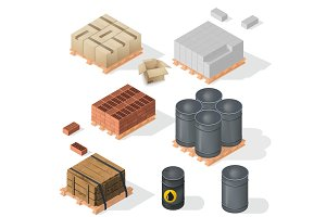 Construction Material Isometric