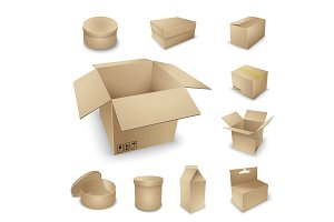 Cardboard box set.
