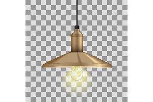 Realistic glow bulb