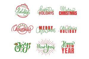 Joy and Happy Holidays, Merry