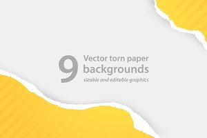 Vector torn paper backgrounds