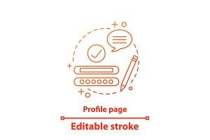 Profile page concept icon