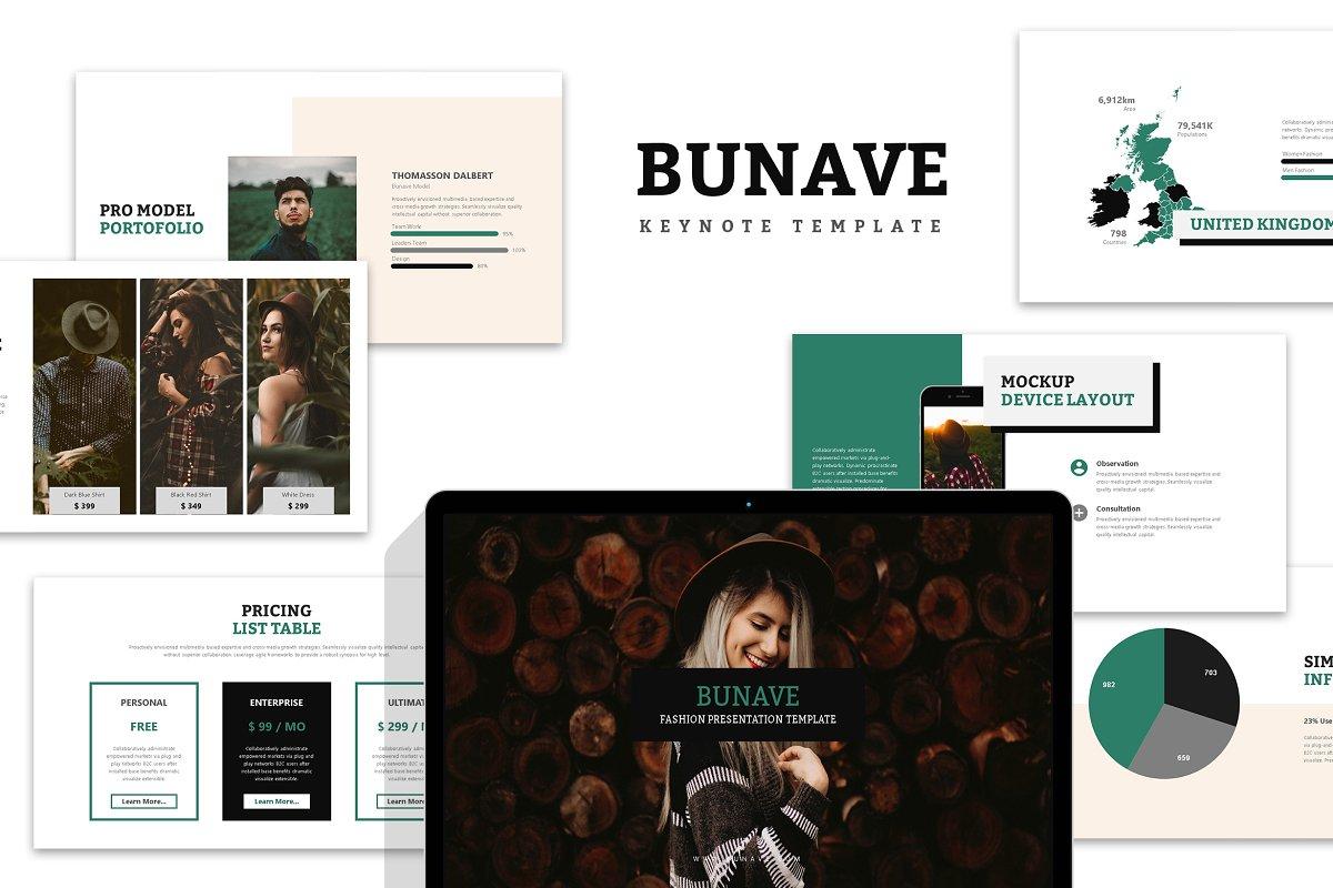 Bunave : Fashion Lookbook Keynote ~ Keynote Templates