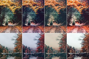 25 Autumn Photoshop Actions