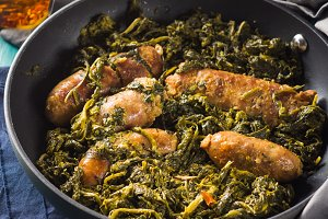 Italian sausages with rapini