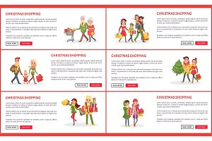 Christmas Holiday Shopping Web Pages