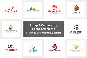Common Group & Community Logo  Pack