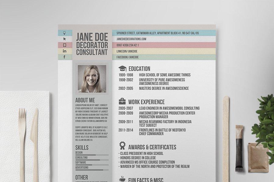 Creative resume vol2 resume templates creative market yelopaper Images