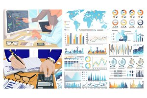 Infographics and World Map, Figures