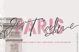 Paris Je T'aime   Font Duo