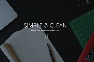 Easy - One page Landing Page