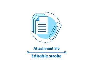 File attachment test concept icon