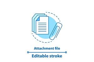 File attachment test concept icon