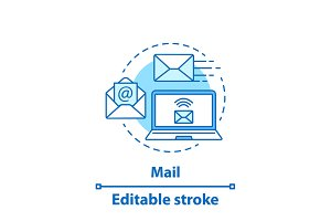 Email concept icon