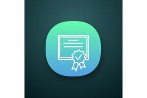 Certificate app icon