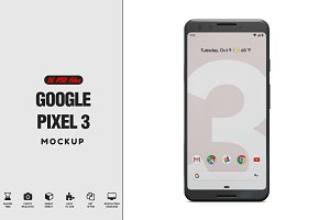 Google Pixel 3 App Mockup