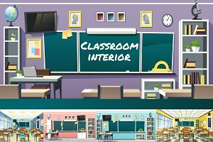 Classroom Interior Bundle