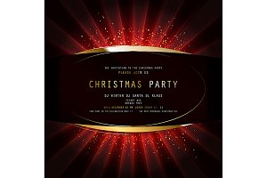 Merry Christmas Party Poster