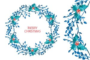 Christmas and New Year Wreath