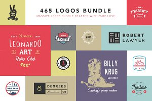 465 Logos Bundle - 90% off