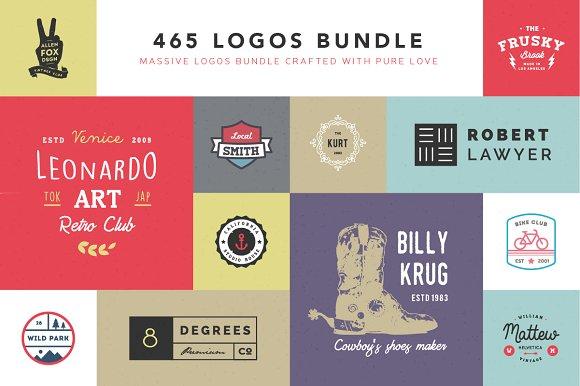465 Logos Bundle - 90% off - Logos