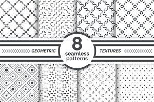Set of geometrical seamless patterns