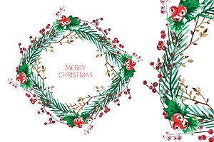 Christmas and New Year Wreath(4)