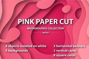 Pink paper cut