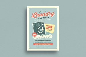 Retro Laundry Services Flyer