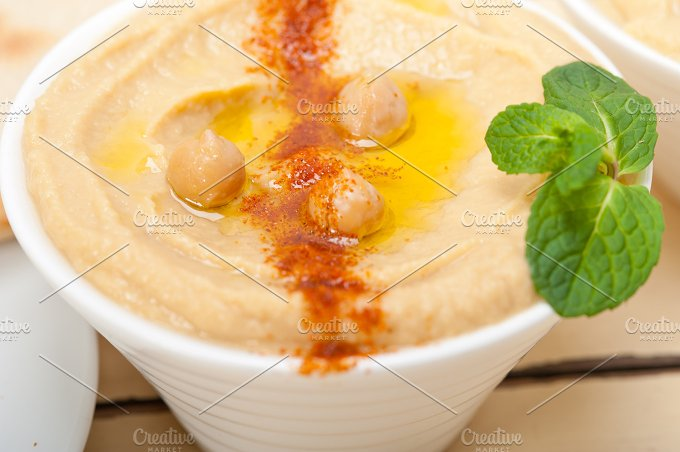 fresh hummus and pita bread 003.jpg - Food & Drink