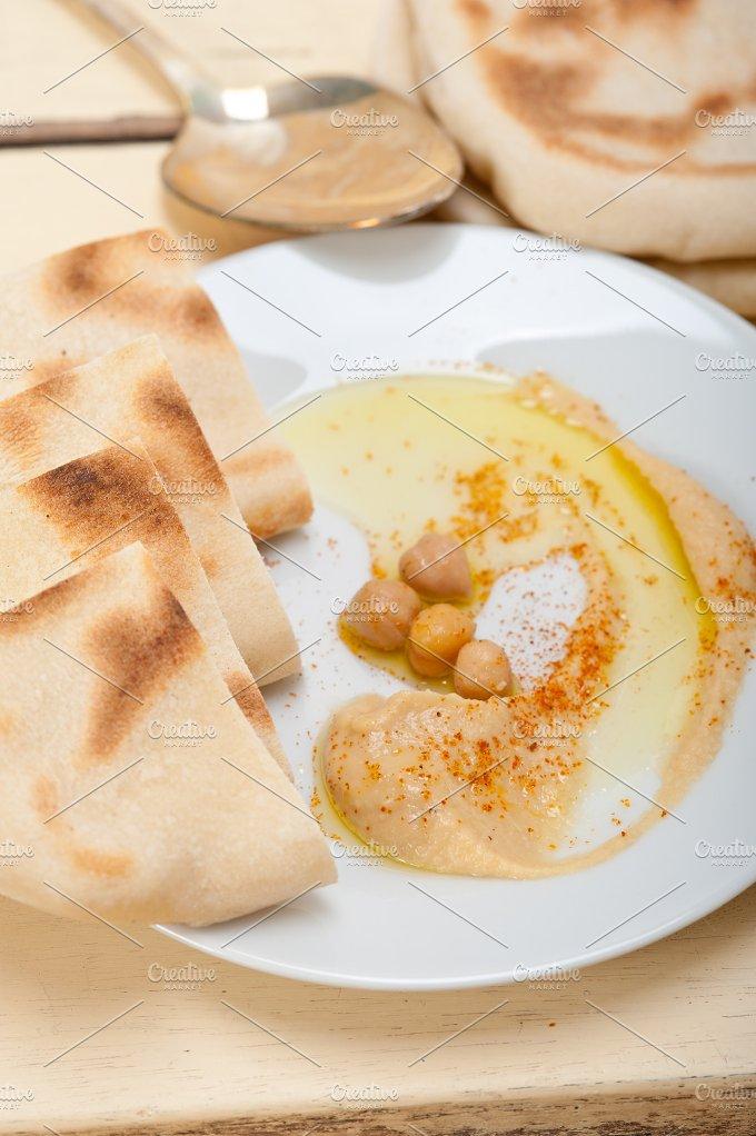 fresh hummus and pita bread 010.jpg - Food & Drink