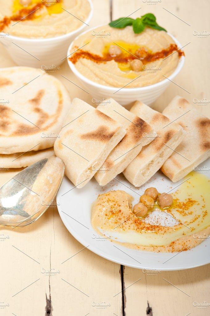 fresh hummus and pita bread 015.jpg - Food & Drink