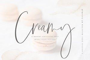 Creamy | Handwritten Font