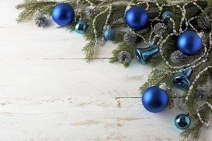 Christmas blue balls decoration
