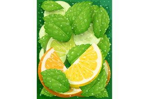 Refreshing lemon, orange, peppermint