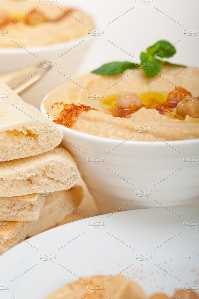 fresh hummus and pita bread 035.jpg - Food & Drink