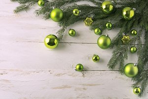 Christmas green balls decoration