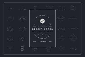 49 Modern & Vintage Badges, Logos