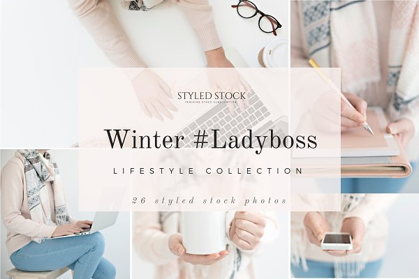 Winter LadyBoss Styled Stock Photos