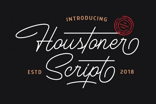 Script Fonts: Martype Co - Houstoner Script + EXTRAS! (40%OFF)
