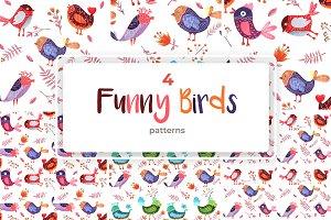 Funny Birds Patterns